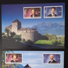 Sellos: TARJETAS POSTALES LIECHTENSTEIN 2002, MONARCAS ACTUALES Y FUTUROS. Lote 296743418