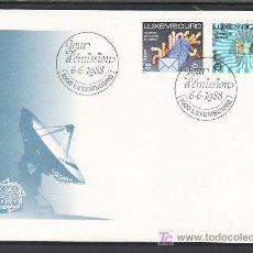 Sellos: LUXEMBURGO 1149/50 PRIMER DIA, TEMA EUROPA 1988, TRANSPORTES Y COMUNICACIONES, . Lote 11456187