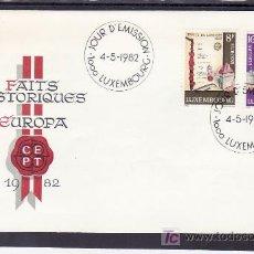 Sellos: LUXEMBURGO 1002/3 PRIMER DIA, TEMA EUROPA 1982, HECHOS HISTORICOS, . Lote 11316291