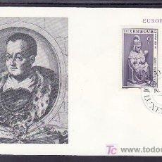 Sellos: LUXEMBURGO 917/8 PRIMER DIA, TEMA EUROPA 1978, MONUMENTOS, ESCULTURA, RELIGION,. Lote 11542407