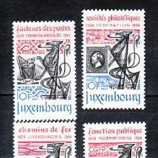 Sellos: LUXEMBURGO 1041/4 SIN CHARNELA, CONMEMORACIONES, FILATELIA, SINDICATO, FERRICARRIL, . Lote 8002019