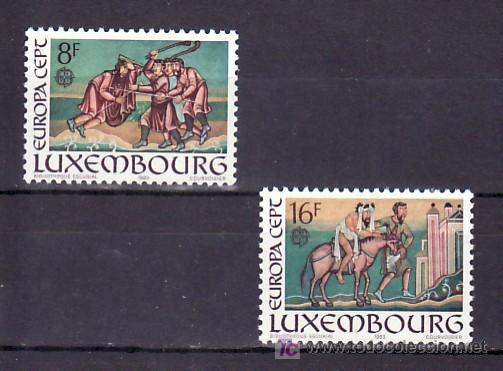 LUXEMBURGO 1024/5 SIN CHARNELA, TEMA EUROPA 1983, GRANDES OBRAS DE LA HUMANIDAD, (Sellos - Extranjero - Europa - Luxemburgo)