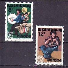 Sellos: LUXEMBURGO 981/2 SIN CHARNELA, TEMA EUROPA 1981. FOLKLORE, MUSICA, . Lote 11933392