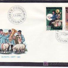 Sellos: LUXEMBURGO 981/2 PRIMER DIA, TEMA EUROPA 1981. FOLKLORE, MUSICA, . Lote 11511674