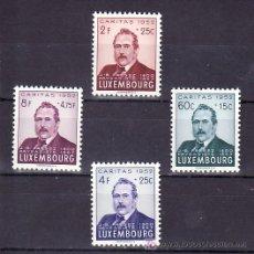 Sellos: LUXEMBURGO 461/4 SIN CHARNELA, NAVIDAD, PINTURA, EFIGIE PINTOR PAISAJISTA J. B. FRESEZ, . Lote 11527344