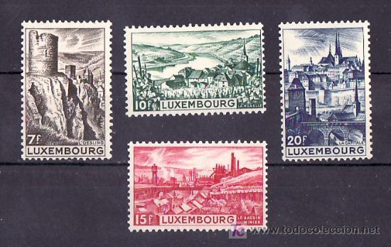 LUXEMBURGO 406/9 CON CHARNELA, VISTAS, OESLING, EHNEN, DUDELANGE, LUXEMBURGO, (Sellos - Extranjero - Europa - Luxemburgo)