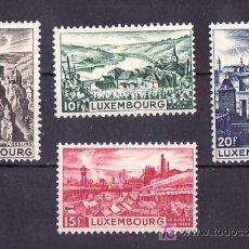 Sellos: LUXEMBURGO 406/9 CON CHARNELA, VISTAS, OESLING, EHNEN, DUDELANGE, LUXEMBURGO, . Lote 11244098