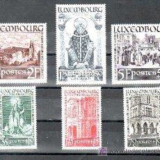 Sellos: LUXEMBURGO 300/5 SIN GOMA, RELIGION, XII CENTENARIO DE LA MUERTE DE SAN WILLIBRORD,. Lote 11316304