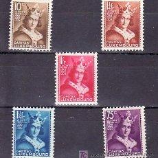 Sellos: LUXEMBURGO 244/8 CON CHARNELA, NAVIDAD, EFIGIE DEL CONDE HENRI VII, . Lote 11220043