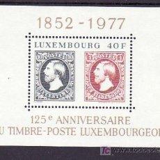 Sellos: LUXEMBURGO HB 10 SIN CHARNELA, 125 ANIVERSARIO DEL SELLO DE LUXEMBURGO. Lote 10545258