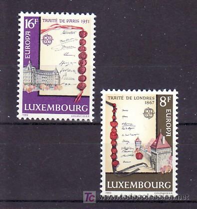 LUXEMBURGO 1002/3 SIN CHARNELA, TEMA EUROPA 1982, HECHOS HISTORICOS, (Sellos - Extranjero - Europa - Luxemburgo)
