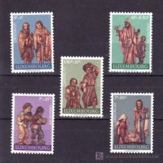 Sellos: LUXEMBURGO 786/90 SIN CHARNELA, ESCULTURAS, BELEN, NAVIDAD, . Lote 10546049
