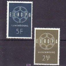Sellos: LUXEMBURGO 567/8 SIN CHARNELA, TEMA EUROPA 1959, . Lote 11647082