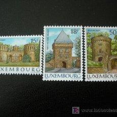 Sellos: LUXEMBURGO 1986 IVERT 1103/05 *** CASTILLOS DE LUXEMBURGO - MONUMENTOS. Lote 12155482