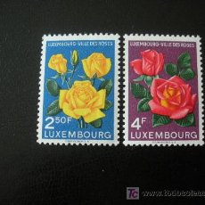 Sellos: LUXEMBURGO 1956 IVERT 508/09 *** LUXEMBURGO CIUDAD DE ROSAS - FLORA. Lote 18728611