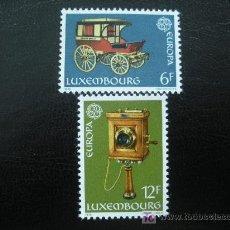 Sellos: LUXEMBURGO 1979 IVERT 937/38 *** EUROPA - HISTORIA DEL SERVICIO P.T.T.. Lote 12289900