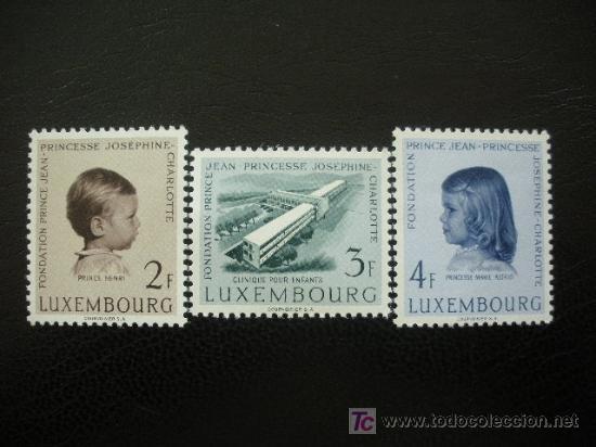 LUXEMBURGO 1957 IVERT 528/30 *** PRO CLINICA NIÑOS - FUNDACIÓN PRINCIPE JUAN - PRINCESA (Sellos - Extranjero - Europa - Luxemburgo)