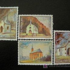 Sellos: LUXEMBURGO 1991 IVERT 1234/37 *** CARITAS - IGLESIAS. Lote 12349779