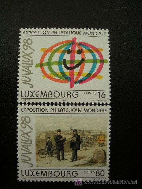 LUXEMBURGO 1997 IVERT 1373/74 *** EXPOSICIÓN FILATELICA INTERNACIONAL - JUVALUX-98 (Sellos - Extranjero - Europa - Luxemburgo)
