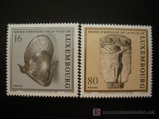 LUXEMBURGO 1998 IVERT 1407/8 *** MUSEO DE HISTORIA DE LUXEMBURGO - ESCULTURA (Sellos - Extranjero - Europa - Luxemburgo)