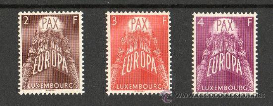 LUXEMBURGO AÑO 1957 YV 531/33*** EUROPA (Sellos - Extranjero - Europa - Luxemburgo)
