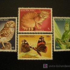Sellos: LUXEMBURGO 1985 IVERT 1083/6 *** ANIMALES EN PELIGRO DE EXTINCIÓN - FAUNA. Lote 20782938