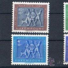 Sellos: LUXEMBURGO AÑO 1953 YV 476/81* CÁRITAS - FOLKLORE - NATURALEZA - PERROS. Lote 26519745