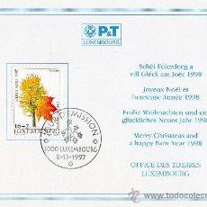 Sellos: LUXEMBURGO AÑO 1997 TARJETA POSTAL DEL SERVICIO FILATÉLICO MATASELLOS DÍA 08-12-1997 - ÁRBOLES. Lote 13918426