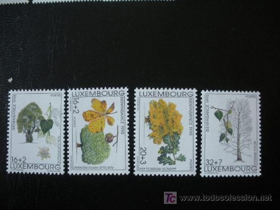 LUXEMBURGO 1995 IVERT 1330/3 *** BENEFICENCIA - FLORA - ARBOLES (Sellos - Extranjero - Europa - Luxemburgo)