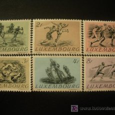 Sellos: LUXEMBURGO 1952 IVERT 455/60 * DEPORTES . Lote 20234776