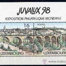 Sellos: LUXEMBURGO AÑO 1998 YV HB 17*** EXPOSICIÓN FILATÉLICA JUVALUX'98 - FILATELIA - PUENTES. Lote 135019179