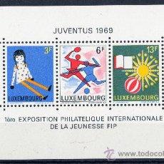 Sellos: LUXEMBURGO AÑO 1969 YV HB 8*** EXPO DE FILATÉLIA JUVENTUS'69 - NIÑOS - JUEGOS - FÚTBOL - DEPORTES. Lote 26002265
