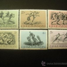 Sellos: LUXEMBURGO 1952 IVERT 455/60 *** DEPORTES. Lote 22391484