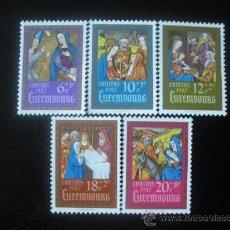 Sellos: LUXEMBURGO 1987 IVERT 1135/9 *** CARITAS - LUMINARIAS - LIBRO DE LAS HORAS DE LA BIBLIOTECA NACIONAL. Lote 23859734
