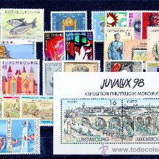 Sellos: LUXEMBURGO AÑO 1998 YV 1387/14*** + HB 17*** COMPLETO. Lote 27364284