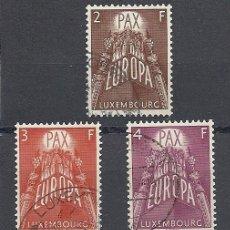 Sellos: LUXEMBURGO 1957, YVERT Nº 531/533, TEMATICA EUROPA, MATASELLADO-USADO. Lote 27727911