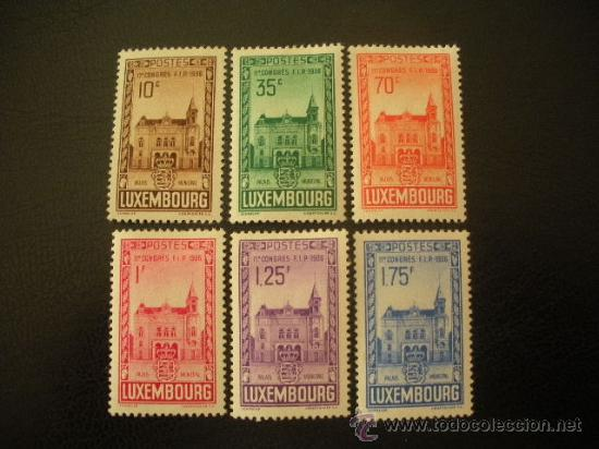 LUXEMBURGO 1936 IVERT 282/7 * XI CONGRESO FEDERACIÓN INTERNACIONAL DE FILATÉLIA - MONUMENTOS (Sellos - Extranjero - Europa - Luxemburgo)