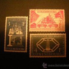 Sellos: LUXEMBURGO 1956 IVERT 511/3 * COMUNIDAD EUROPEA DEL CARBON Y DEL ACERO . Lote 35421766