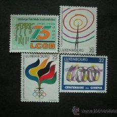 Sellos: LUXEMBURGO 1996 IVERT 1342/6 *** ANIVERSARIOS - RADIOCOMUNICACIONES - JUEGOS OLIMPICOS - CINE. Lote 36805128