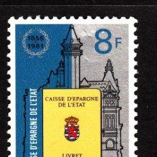 Sellos: LUXEMBURGO 985** - AÑO 1981 - 125º ANIVERSARIO DE LA CREACIÓN DE LA CAJA DE AHORROS DEL ESTADO. Lote 39443123