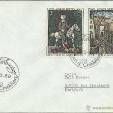 Sellos: LUXEMBURGO CC SELLOS PINTURA ARTE JOSEPH KUTTER. Lote 43013711