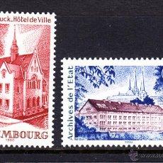 Sellos: LUXEMBURGO 957/58** - AÑO 1980 - TURISMO - EDIFICIOS HISTÓRICOS. Lote 105870182