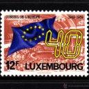 Sellos: LUXEMBURGO 1171** - AÑO 1989 - 40º ANIVERSARIO DEL CONSEJO DE EUROPA. Lote 160646438