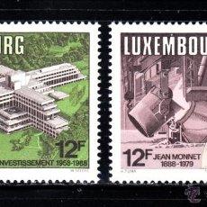 Sellos: LUXEMBURGO 1157/58** - AÑO 1988- ANIVERSARIOS - JEAN MONNET - BANCO EUROPEO DE INVERSIONES. Lote 51969884