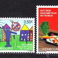 Sellos: LUXEMBURGO 1671/72** - AÑO 2006 - LUCHA CONTRA LA DROGA. Lote 51970010
