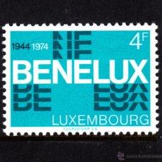 Sellos: LUXEMBURGO 841** - AÑO 1974 - 30º ANIVERSARIO DE LA UNIÓN ADUANERA DEL BENELUX. Lote 252518785