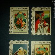 Sellos: SELLOS DE LUXEMBURGO. YVERT 968/71. SERIE COMPLETA NUEVA SIN CHARNELA. PINTURAS. Lote 52894253