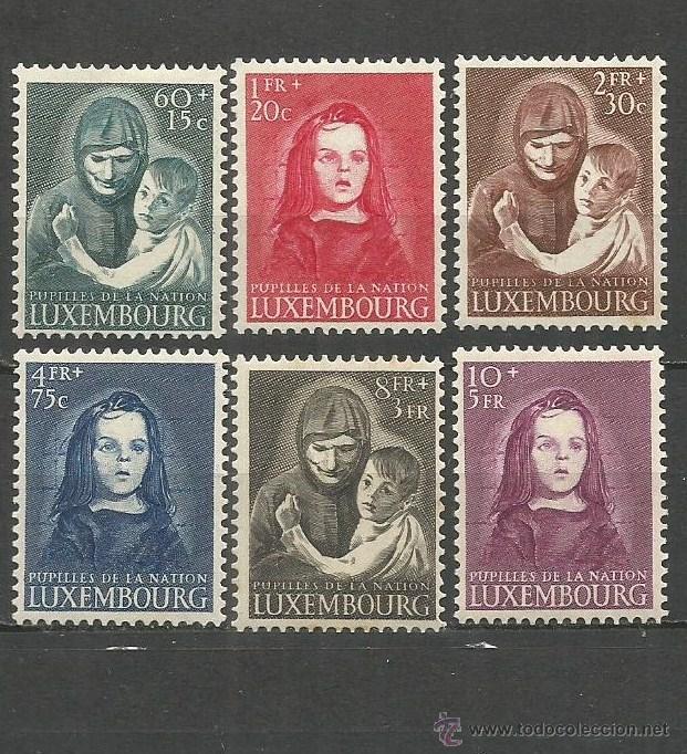 LUXEMBURGO YVERT NUM. 433/438 * SERIE COMPLETA CON FIJASELLOS --LIGERO OXIDO EN LA GOMA -- (Sellos - Extranjero - Europa - Luxemburgo)