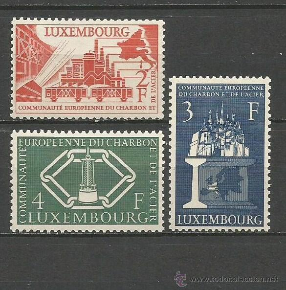 LUXEMBURGO YVERT NUM. 511/513 ** SERIE COMPLETA SIN FIJASELLOS (Sellos - Extranjero - Europa - Luxemburgo)