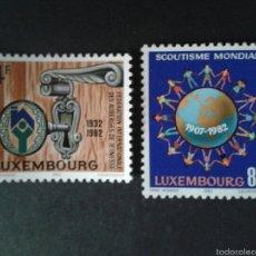 Timbres: SELLOS DE LUXEMBURGO. SCOUTS. YVERT 1010/11. SERIE COMPLETA NUEVA SIN CHARNELA. SCOUTS. Lote 59547984